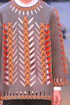fabric manipulation and textile design - Rhonda's Creative Life: Monday Morning Inspiration Laser Cut Fabric, Textiles Techniques, Textile Texture, Fashion Details, Fashion Design, Fabric Manipulation, Pulls, Textile Design, Trendy Fashion