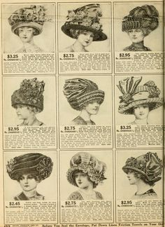 1912 Sears Fall Catalogue - hats