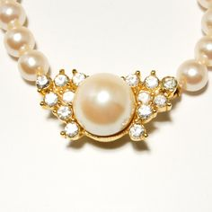 Vintage Signed Richelieu Faux Pearl Necklace by VintageMeetModern, $14.00