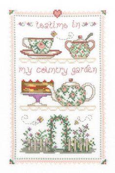 Country Tea Time - Cross Stitch Pattern - 123Stitch.com