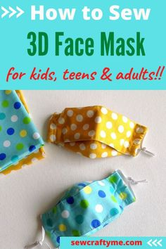 Easy Breathable Face Mask Sewing Pattern - Sew Crafty Me