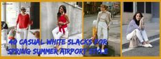Speaking of style, make sure you understand what your style is. You just want to resemble a better version of you. White Slacks, White Trousers, Summer Capri Outfits, What's Your Style, Airport Style, Traditional Outfits, Casual Looks, Casual Outfits, Spring Summer