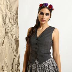 now on eboutic.ch - sleeveless waistcoat for women - anthracite Famous Brands, Sexy Outfits, Feminine, Glamour, Clothes For Women, Elegant, Unique, Tops, Dresses
