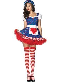 Adult Darling Dollie Rag Doll Costume - Party City