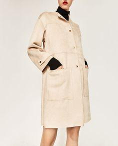 Zara veloursleder mantel