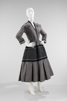Dress Design House: House of Dior  (French, founded 1947) Designer: Christian Dior (French, Granville 1905–1957 Montecatini) Secondary Line: Christian Dior, New York (American, founded 1948) Date: 1948–49