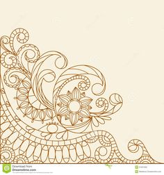 Hand-Drawn Abstract Henna Mehndi - Download From Over 29 Million High Quality Stock Photos, Images, Vectors. Sign up for FREE today. Image: 21627550