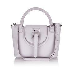 meli melo Thela Mini Bag (£450) ❤ liked on Polyvore featuring bags, handbags, tote bags, lilac, mini handbags, mini leather handbags, leather purse, mini purse and lilac handbag