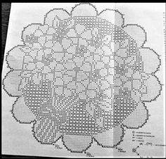 Crochet Diagram, Filet Crochet, Crochet Doilies, Crochet Basics, Embroidery Patterns, Crochet Projects, Cross Stitch, Lace, Knitting