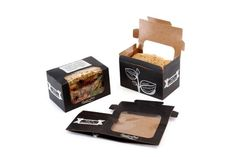 Products | Planglow Ltd. Black/slate style! Biodegradable sandwich packaging