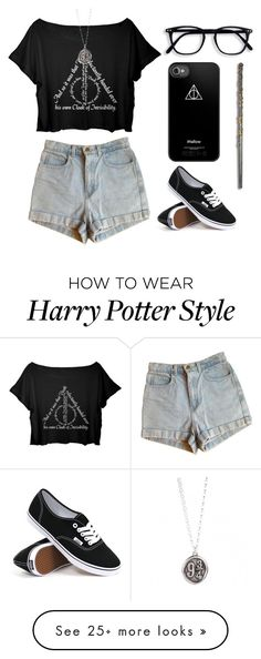 """My outfit right now"" by angeline-manganti on Polyvore featuring American Apparel and Vans"