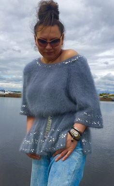 Knitting Paterns, Hand Knitting, Crochet Patterns, Angora Sweater, Knit Cardigan, Crochet Shirt, Knit Crochet, Knit Fashion, Womens Fashion