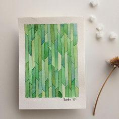 Green fracture watercolor