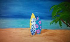 Custom Made to Order Surfboard Paintings on wrapped canvas - Great for couples, families, teen/tween rooms etc. Pick the number of