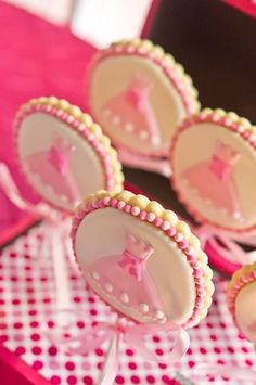 Pretty princess cookie pops at a girl birthday!  See more party ideas at CatchMyParty.com!