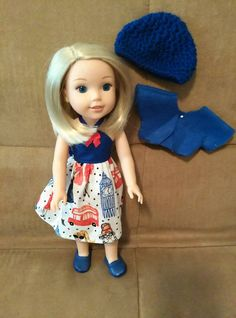 14.5 inch Doll modeled by a Wellie Wisher doll London sun