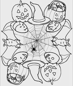 Halloween Monstern Coloring Page To Trace In SCAL For