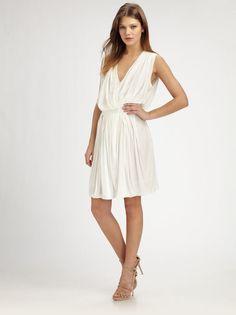 $402 NWT Fabulous OBAKKI Alameda Wrap-Front  Dress sz S, Off-White, Runway Seen #Obakki #WrapDress #Cocktail
