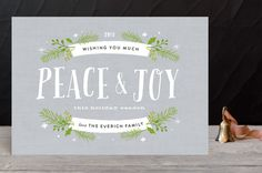 Peace and Pine Holiday Petite Cards by Carolyn Mac... | Minted