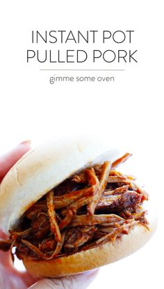 The most tender, juicy and delicious BBQ Pulled Pork -- made extra easy in the Instant Pot pressure cooker! Use your favorite BBQ sauce and serve this up on sandwiches or whatever sounds good. | gimmesomeoven.com