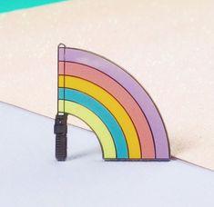 Image of Rainbow Lightsaber hard enamel pin