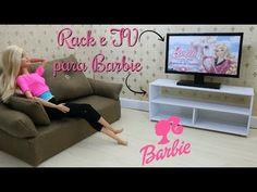 COMO FAZER RACK E TV PARA BARBIE DIY FOR DOLLS - YouTube