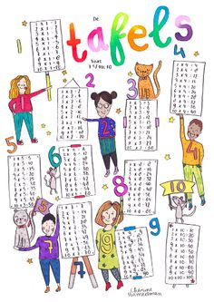 NEW: Table poster or format ★ In daily life I work in education as a group teacher and interna School Lessons, School Hacks, Primary Education, Kids Education, Math Classroom, Classroom Decor, Teaching Kids, Kids Learning, Training
