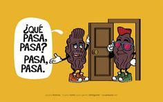 Spanish words: pasa. Word play. #Spanish jokes for kids #chistes infantiles