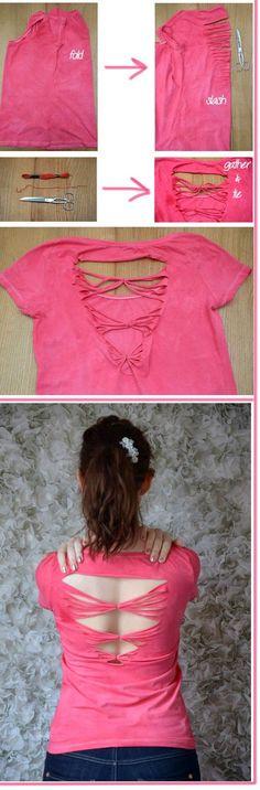 DIY: Customizar camisetas básicas Parte 3