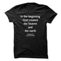 Genesis 1:1 King James Bible Quote T Shirt