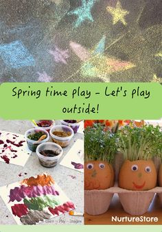 Sun or showers - Spring is here and it's time to play outside! Check out this round up of fun even in April showers!