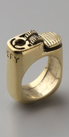 SO unique, a lighter/ring. I hope it doesn't actually work, that would be frightening.