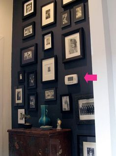 Gallery Wall...great idea to paint a single wall space and highlight your favorite photos