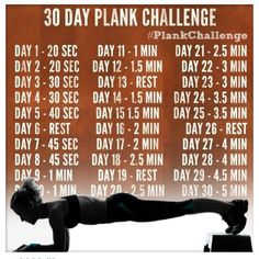 40 day plank challenge