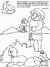 Bible coloring book pages -- Luke 15:4 The parable of the lost lamb