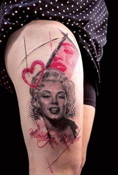 #polka #trash #tattoo #merilyn #monroe