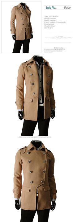 NY Model!NY! Koreanska Woolen Trenchcoat Stl L (f21) på Tradera. L  