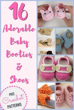 16 Adorable Baby Booties & Shoes - Free Crochet Patterns