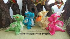 A link list of free crochet amigurumi patterns including dragons, wizard, girl, knight. Also a round up of amigurumi stories. Crochet Dragon Pattern, Crochet Amigurumi Free Patterns, Diy Crochet, Crochet Toys, Crochet Ideas, Sharon Ojala, Yarn Tail, Little Dragon, Crochet Animals