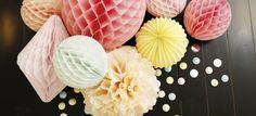 décorations en papier mariages, fêtes, anniversaires, bar mitsva, baptemes