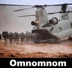 I have to admit, this made me laugh out loud. (We don't get a lot of military helicopter humor.)
