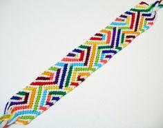 Rainbow Optical Illusion Friendship Bracelet by QuietMischief