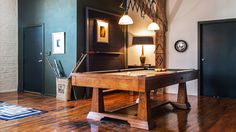 The 18 Most Gentlemanly Man Caves // Pool Table, Billiard Table