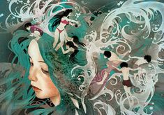 Le Khoa, Mer de #illustration cheveux