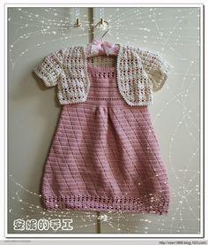Мир хобби: Платье и болеро для девочки (вязание крючком)