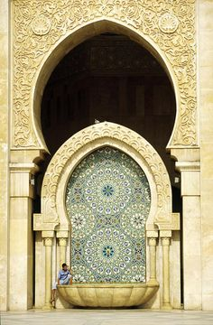 Islamic design in the Hassan II Mosque. Casablanca, Morocco