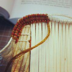 Alla Greca headband in the making