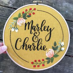 Personalized Wedding Embroidery Hoop Couples Name