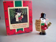 "Hallmark Keepsake Ornament, ""The Town Crier"", 1988."