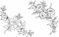 Ağaç Oymacılığı Desenleri, Oymacılıkta Kullanılan Desenler - Üye Çalışmaları - Paylaşımları Hand Embroidery Patterns, Vintage Embroidery, Floral Embroidery, Embroidery Designs, Painting Templates, Drawing Templates, Bordado Floral, Pencil Design, Neckline Designs